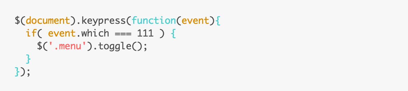 jQueryでキーボードショートカット機能を実装する