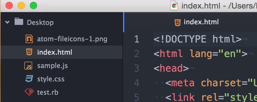 file-iconsでファイルの種類が見分けやすくなる