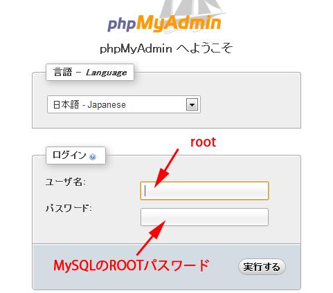 21:MySQLのROOTパスワードを入れてログイン